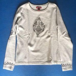 Gray Sundance Lambswool Sweater